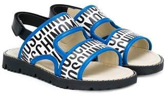 Moschino Kids logo print sandals