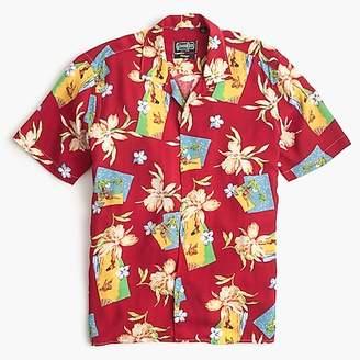J.Crew Gitman VintageTM for short-sleeve shirt in red floral print