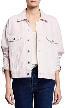 Alexander Wang Game Oversized Button-Front Denim Jacket