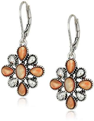 Chaps Women's Flower Drop Earrings