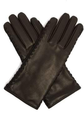 Bottega Veneta Leather Gloves - Womens - Black