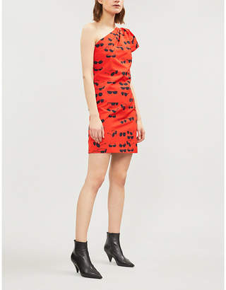 Victoria Beckham Victoria Sunglasses-print cotton-blend dress