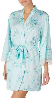 Kate Spade Cherry Blossom Lace-Trim Robe