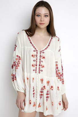Free People Arianna Embroidered Tunic Dress