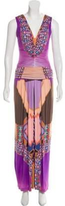 Etro Printed Maxi Dress Purple Printed Maxi Dress