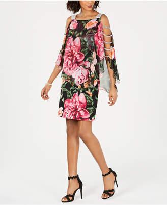MSK Embellished Floral-Print Sheath Dress