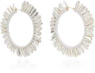 Rebecca de Ravenel Metal Petal Hoop Earrings