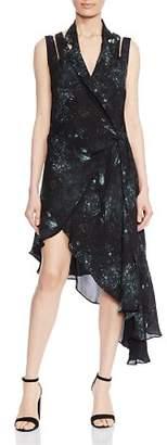 Haute Hippie Silk Midi Wrap Dress