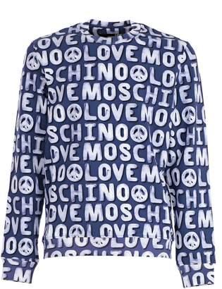 Love Moschino All-over Logo Print Sweatshirt