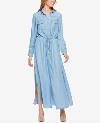 Tommy Hilfiger Drawstring Maxi Shirtdress, Only at Macy's $99.50 thestylecure.com