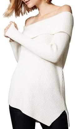 Karen Millen Asymmetric Off-the-Shoulder Sweater