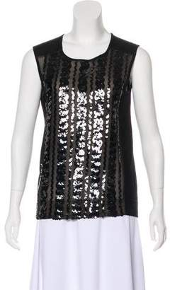 Tory Burch Sequin Sleeveless Blouse