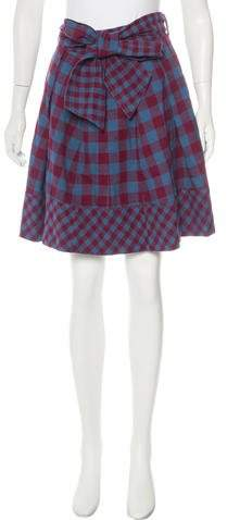 Marc by Marc Jacobs Plaid Knee-Length Skirt