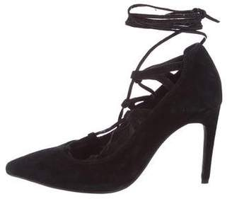 Jeffrey Campbell Suede Lace-Up Pumps