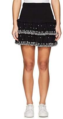 Etoile Isabel Marant Women's Naomi Smocked Cotton Miniskirt - Black