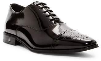 Versace Spazzolato Leather Cap Top Oxford
