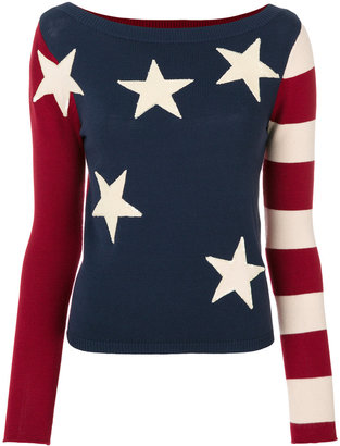 Twin-Set stars and stripes jumper $182.48 thestylecure.com