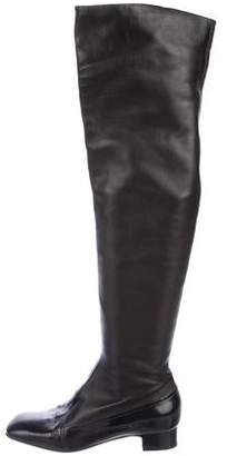 Anna Sui Leather Over-The-Knee Boots