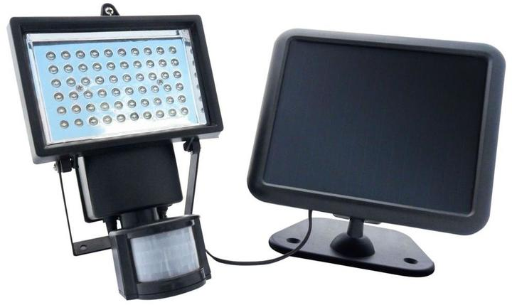 Nature Power Black Outdoor Solar Powered Motion Activated 60-LED Security Light