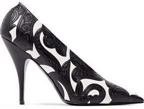 Stella McCartney Embossed Faux Leather Pumps