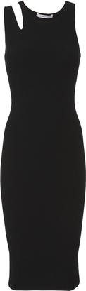 Helmut Lang Slash Rib Midi Dress $295 thestylecure.com