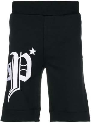 Philipp Plein side logo track shorts