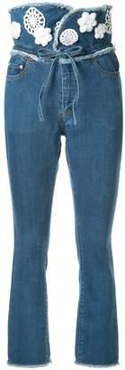 Tu es mon TRÉSOR high-waisted Tulip jeans