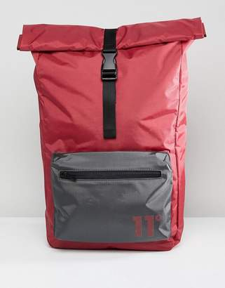 11 Degrees Rolltop Backpack In Burgundy