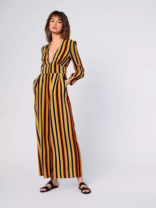 Glamorous Womens **Striped Button Jumpsuit By Mustard