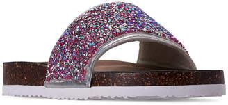 Steve Madden Little Girls' Shine On Slide Sandals from Finish Line