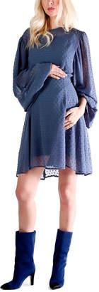 Madeleine Maternity Whiskey Cake Dress