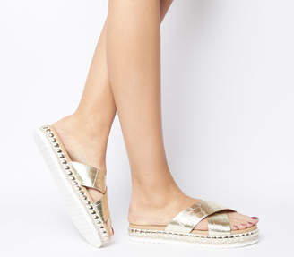 Office Sincere Studded Cross Strap Sandals