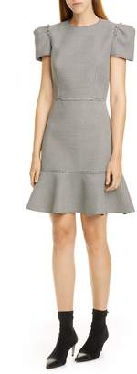 Jason Wu Short Sleeve Houndstooth Dress