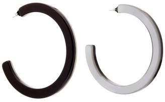 Diana Broussard Perla Mother-of-Pearl Maxi Hoop Earrings