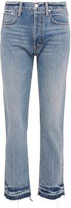 Helmut Lang Let-out cuff cropped straight leg jeans