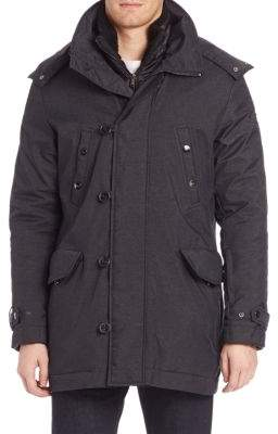 Tumi Twill Textured Zip-Front Jacket