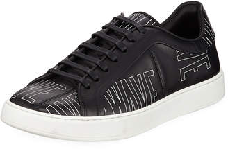 Christian Dior Men's New Wave Leather Low-Top Sneakers