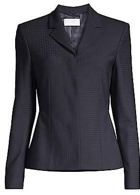 BOSS Women's Jandila Stretch Wool-Blend Shadowcheck Suiting Jacket