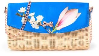Ted Baker Haarley Harmony Straw Crossbody Clutch