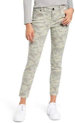 1822 Denim Camo Print Ankle Skinny Jeans