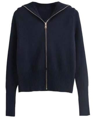 Goodnight Macaroon 'Jamie' Soft Oversized Collar Zip-Up Sweater (3 Colors)