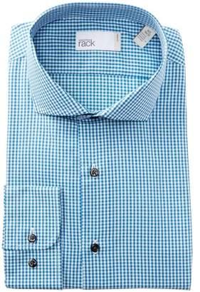 Nordstrom Rack Gingham Trim Fit Dress Shirt