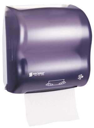 San Jamar Mechanical Hands-Free Towel Dispenser, 12 3/8 x 7 5/8 x 12 1/4, Black Pearl -SJMT7500TBK