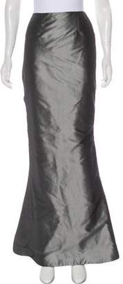 Reem Acra Satin Evening Skirt