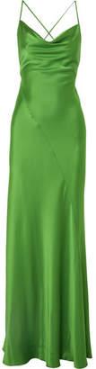 Diane von Furstenberg Satin Gown - Leaf green