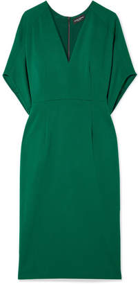 Narciso Rodriguez Wool-crepe Midi Dress - Green