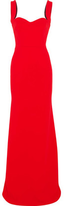 Victoria Beckham - Crepe Gown - Red $4,200 thestylecure.com
