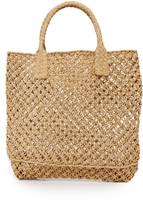 Hat Attack Macrame Small Tote $95 thestylecure.com