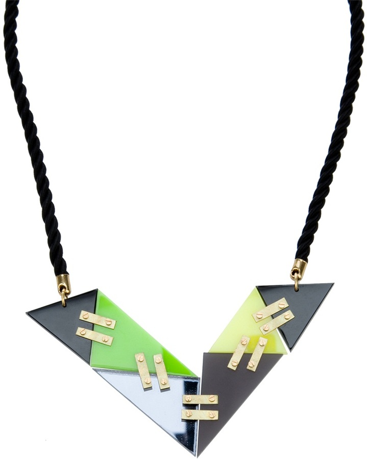Lucy Peacock 'V' Vostok Necklace