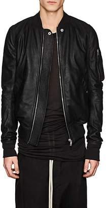 Rick Owens Men's Blistered Leather Bomber Jacket - Black